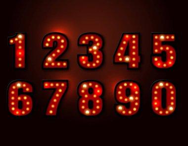 bulb red light font on background