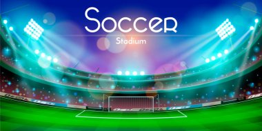 Soccer stadium vector design