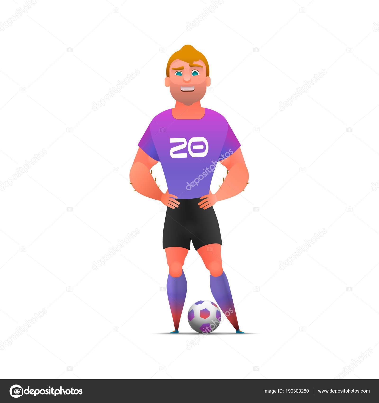 Jugador de fútbol fútbol pie de longitud completa afe0d86d9dccc