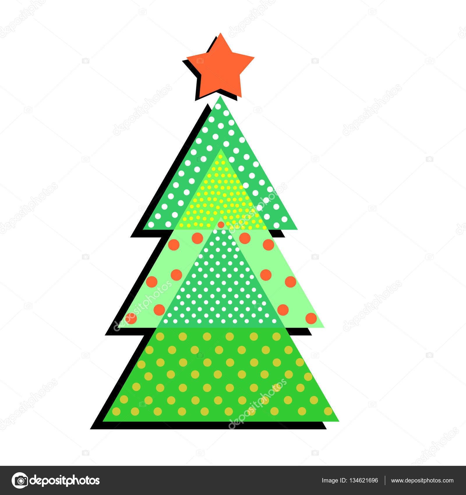 Arbol De Navidad Con Motivos Sobre Un Fondo Blanco Illustrati - Motivos-navidad