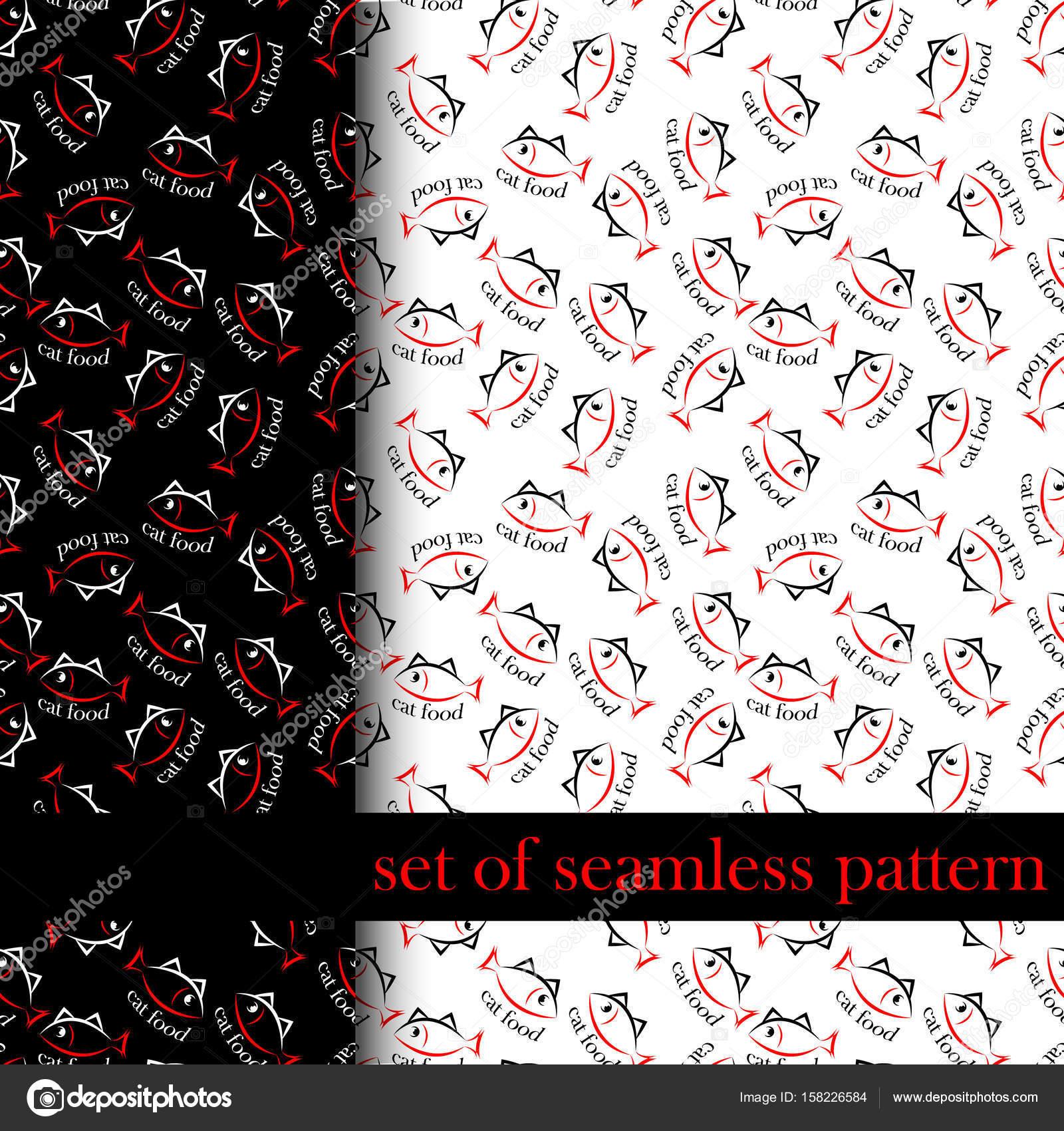 conjunto de patrones sin fisuras con cantar o símbolo de la comida ...