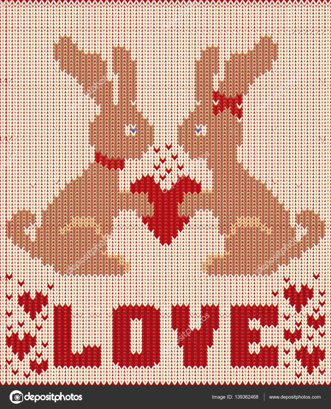 Feliz día de San Valentín tarjeta punto con dos conejo y corazón ...