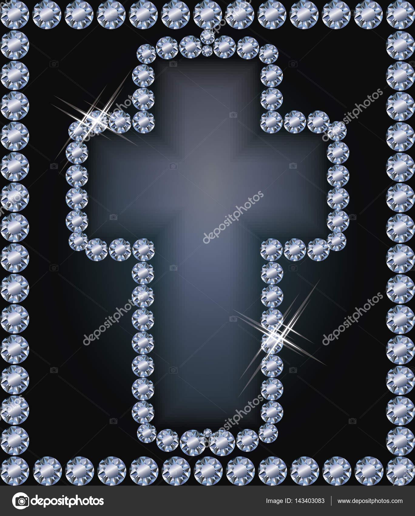 Diamond frame Easter cross , vector illustration — Stock Vector ...