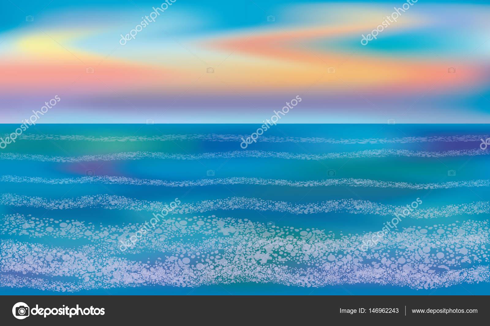 Sea Wallpaper Vector Illustration Stock Vector C Carodi 146962243