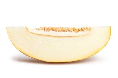 ripe melon on white