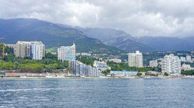Hotel complex construction in Yalta.