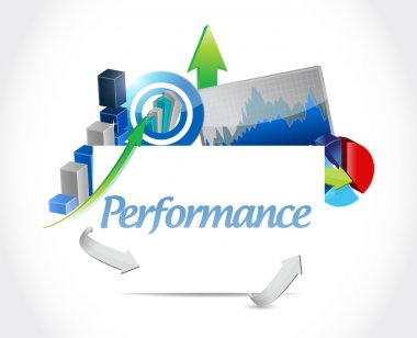 Business performance graphs illustration design