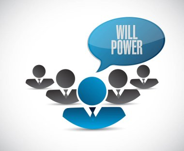 will power teamwork sign concept