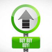 koupit koupit koupit silniční značka koncept