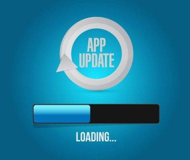 app updates loading bar illustration design