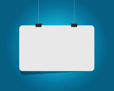 blank white hanging banner illustration