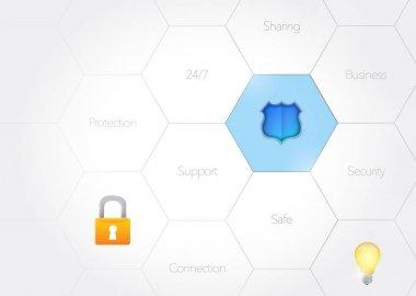 security diagram concept illustration design