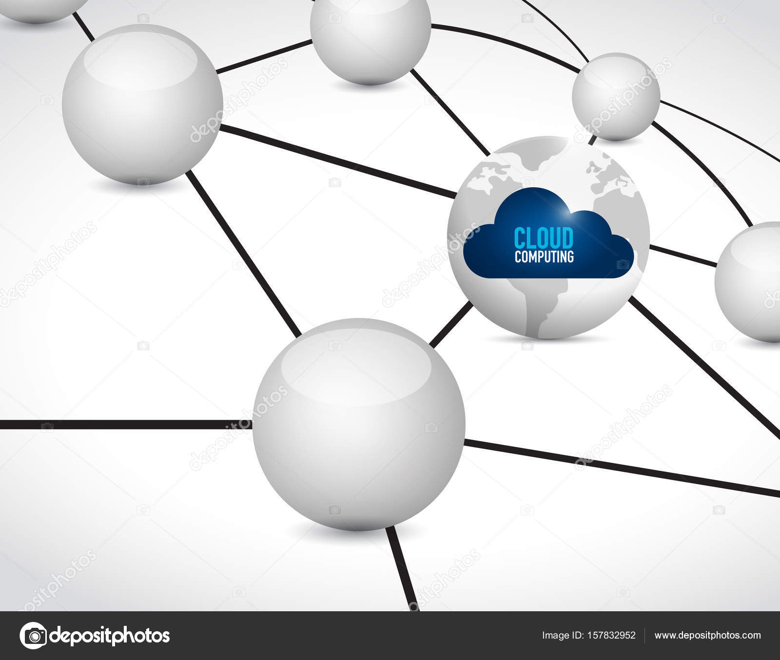 cloud puting link network diagram concept stock photo Wireless Home Network Design Diagram cloud puting link network diagram concept illustration design isolated over white photo by alexmillos
