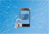 Cyber security binární chytrý telefon