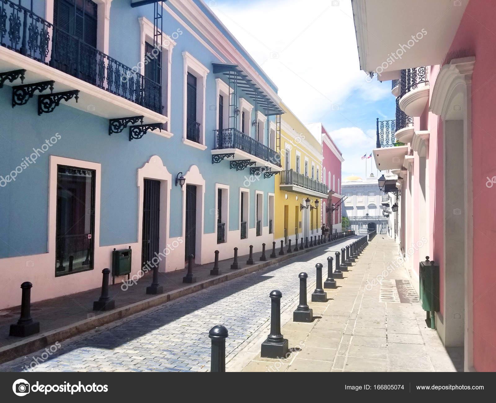 Oude Stad San Juan Puerto Rico Stockfoto Alexmillos 166805074