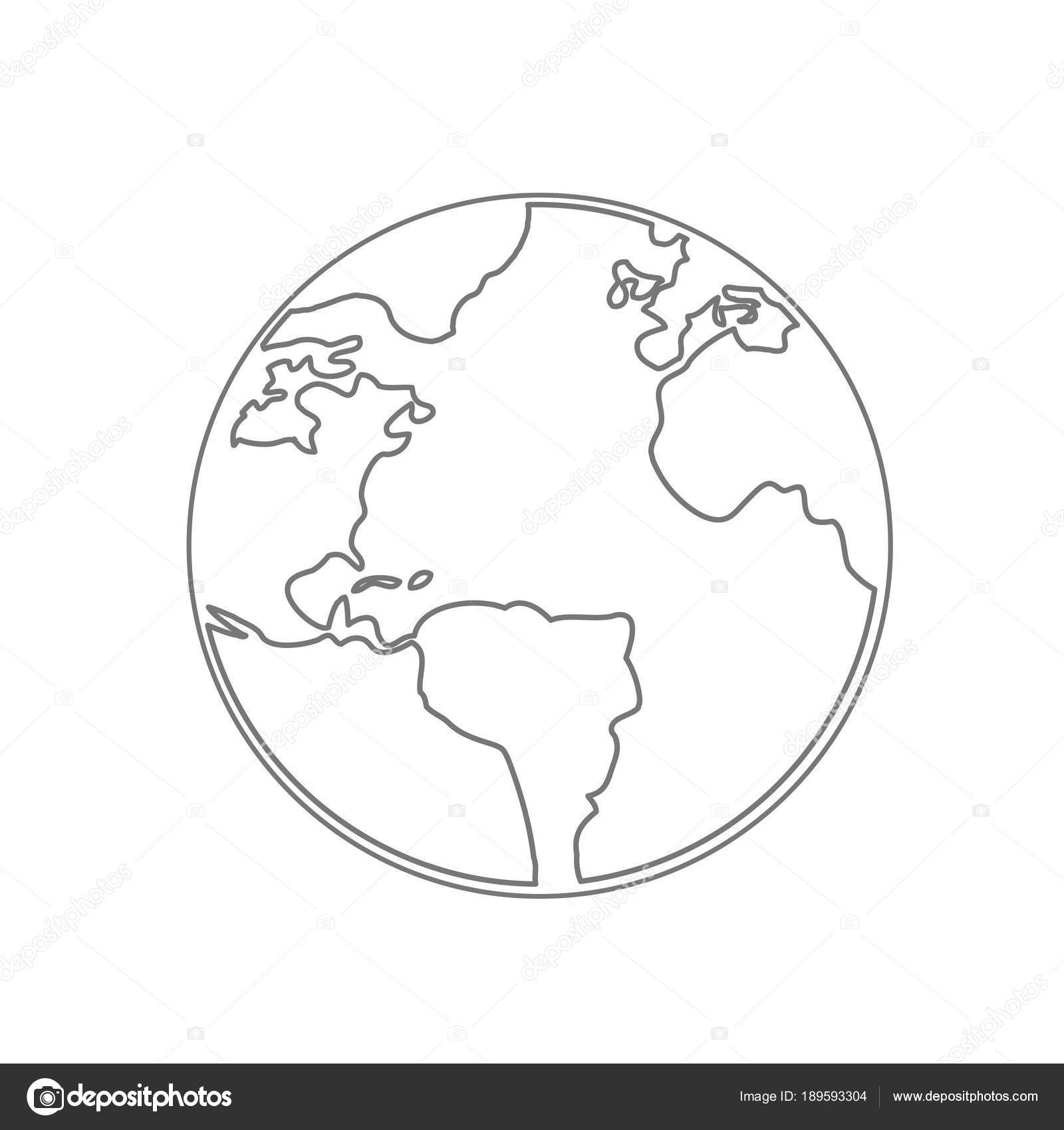 World map earth globe vector line sketched up illustrator stock world map earth globe vector line sketched up illustrator stock photo gumiabroncs Choice Image