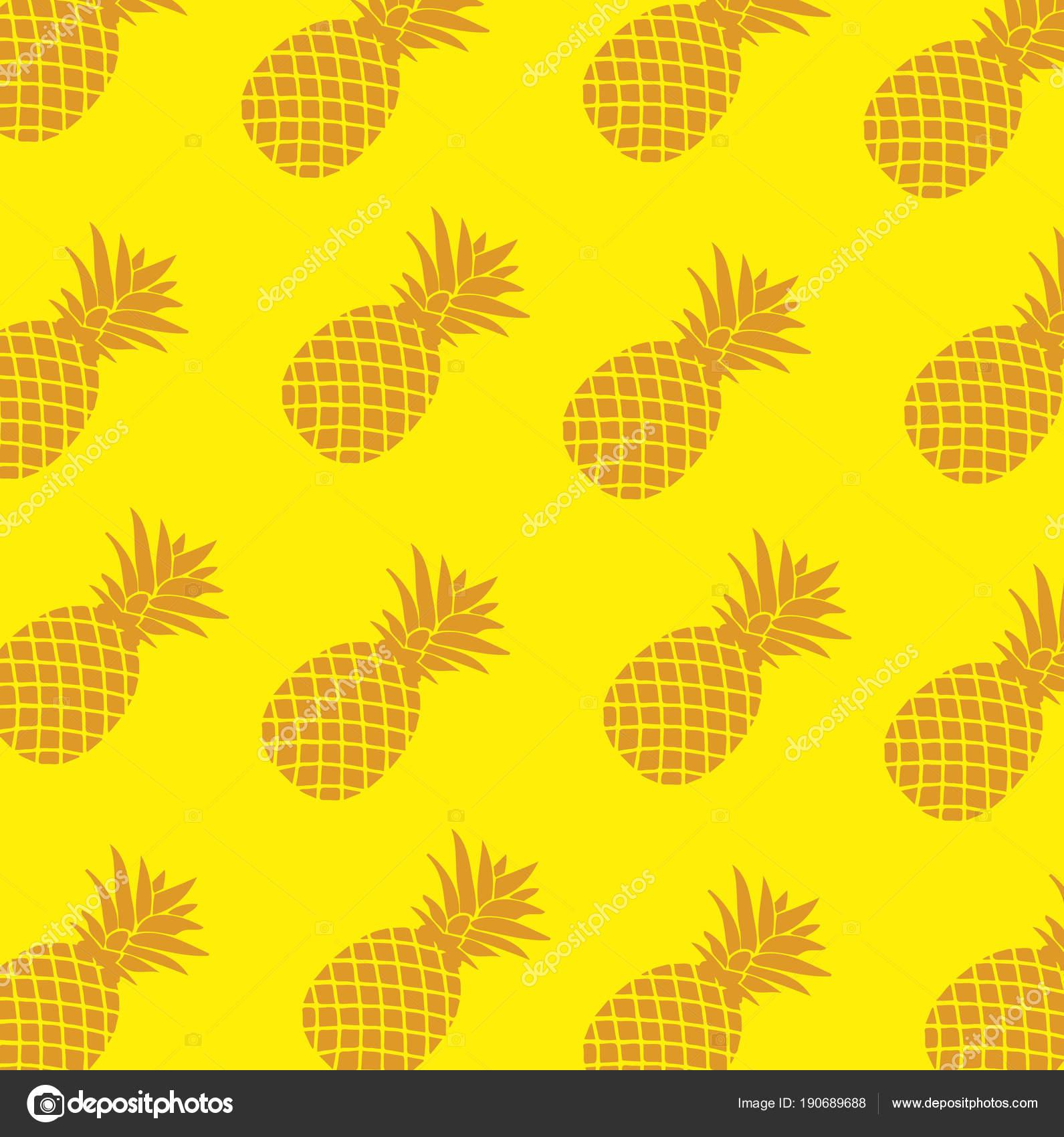 Patrón sin fisuras tropical con piña Illustrator. diseño gra — Fotos ...