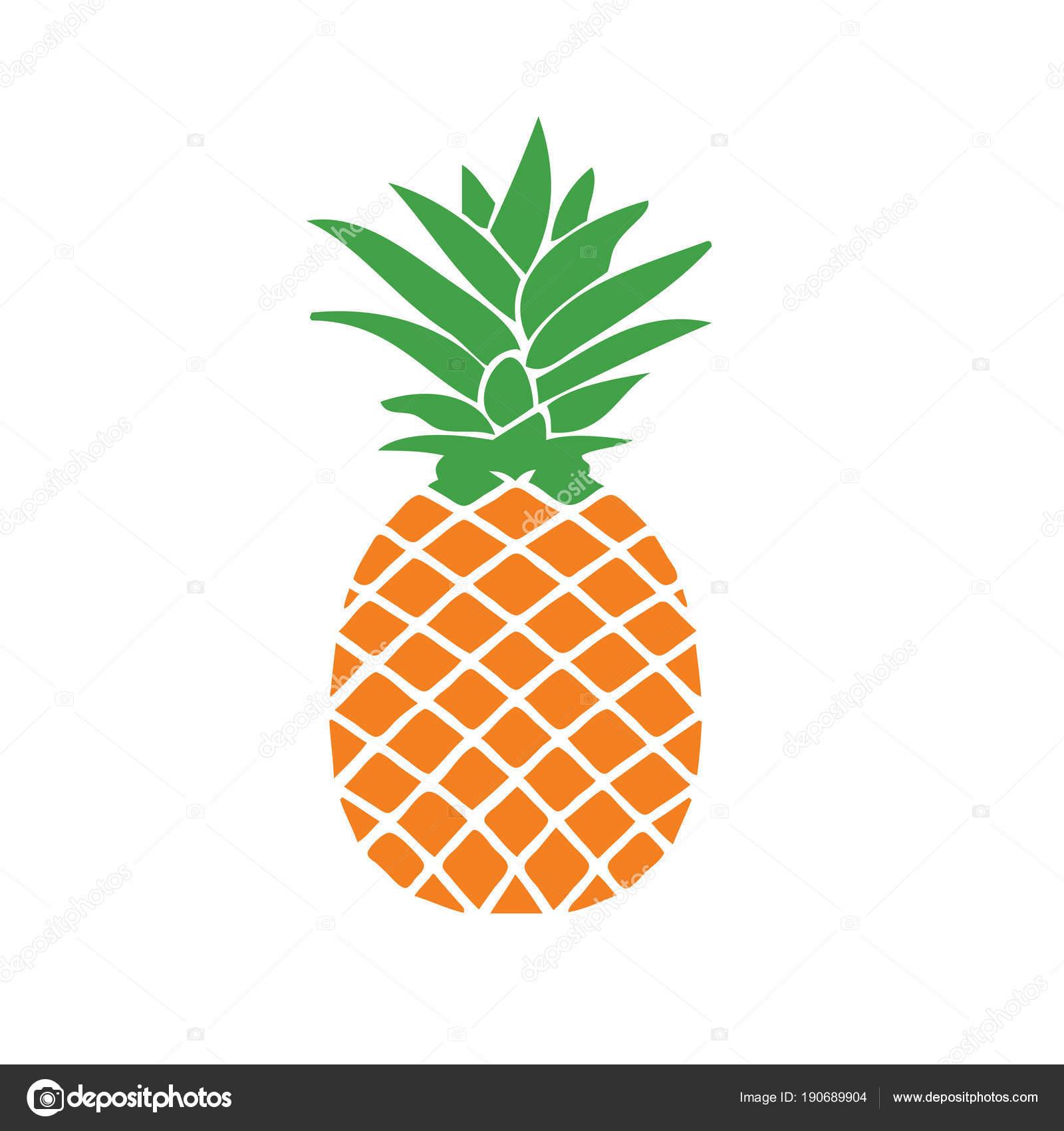 fresh pineapple illustration design graphic � stock