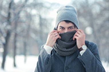 young man in winter park