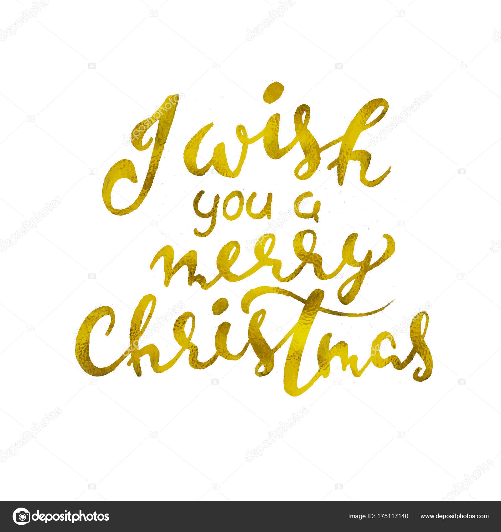 I wish you a Merry Christmas. Beautiful greeting card scratched ...