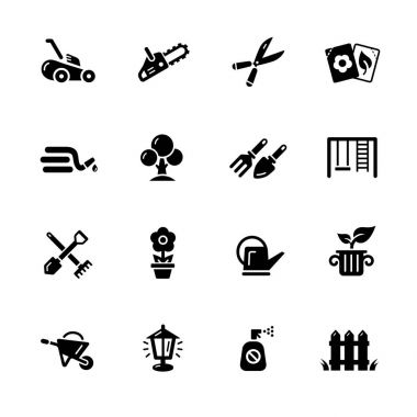 Gardening Icons -- Black Series