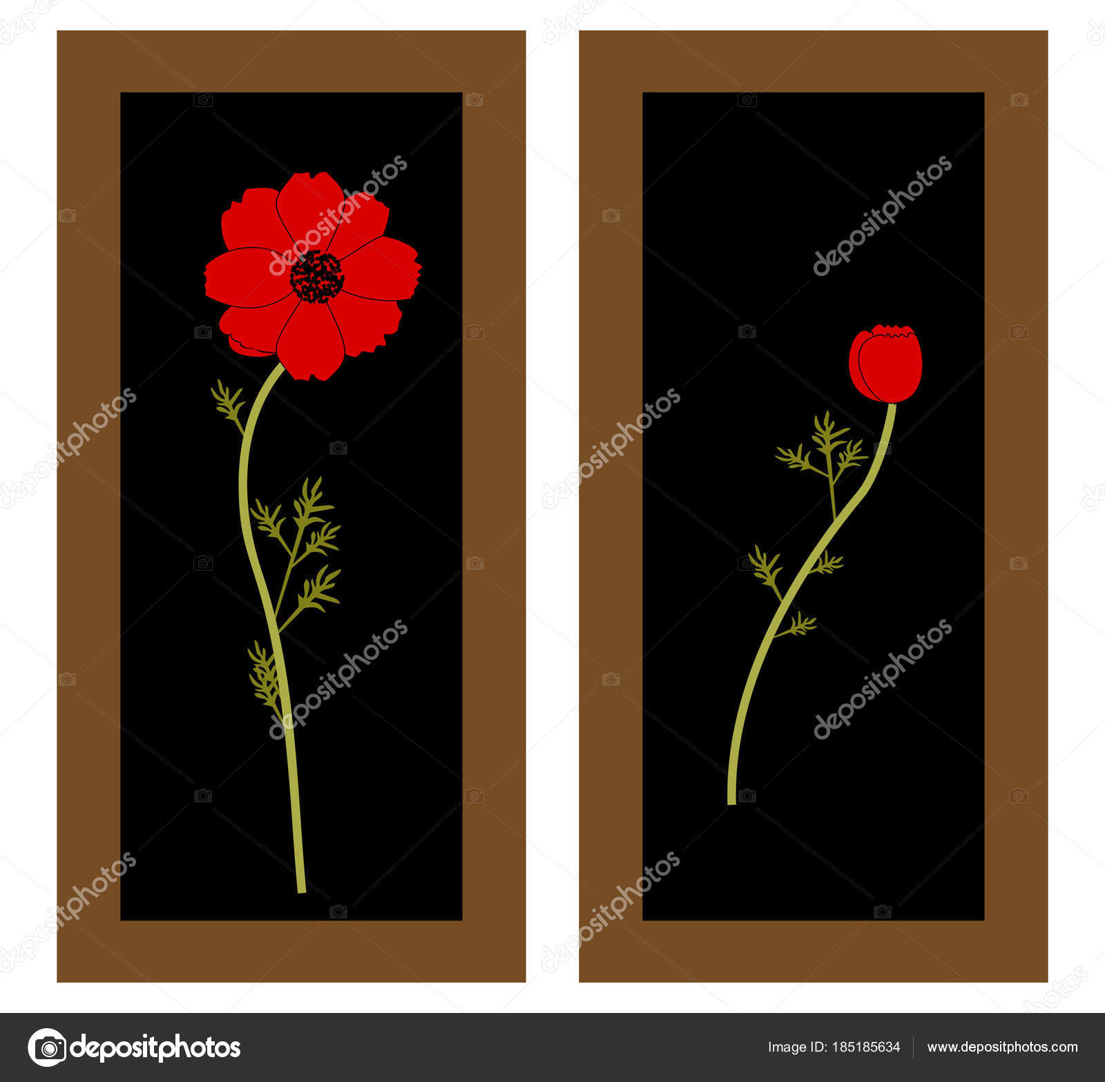 Шаблон для картины цветы