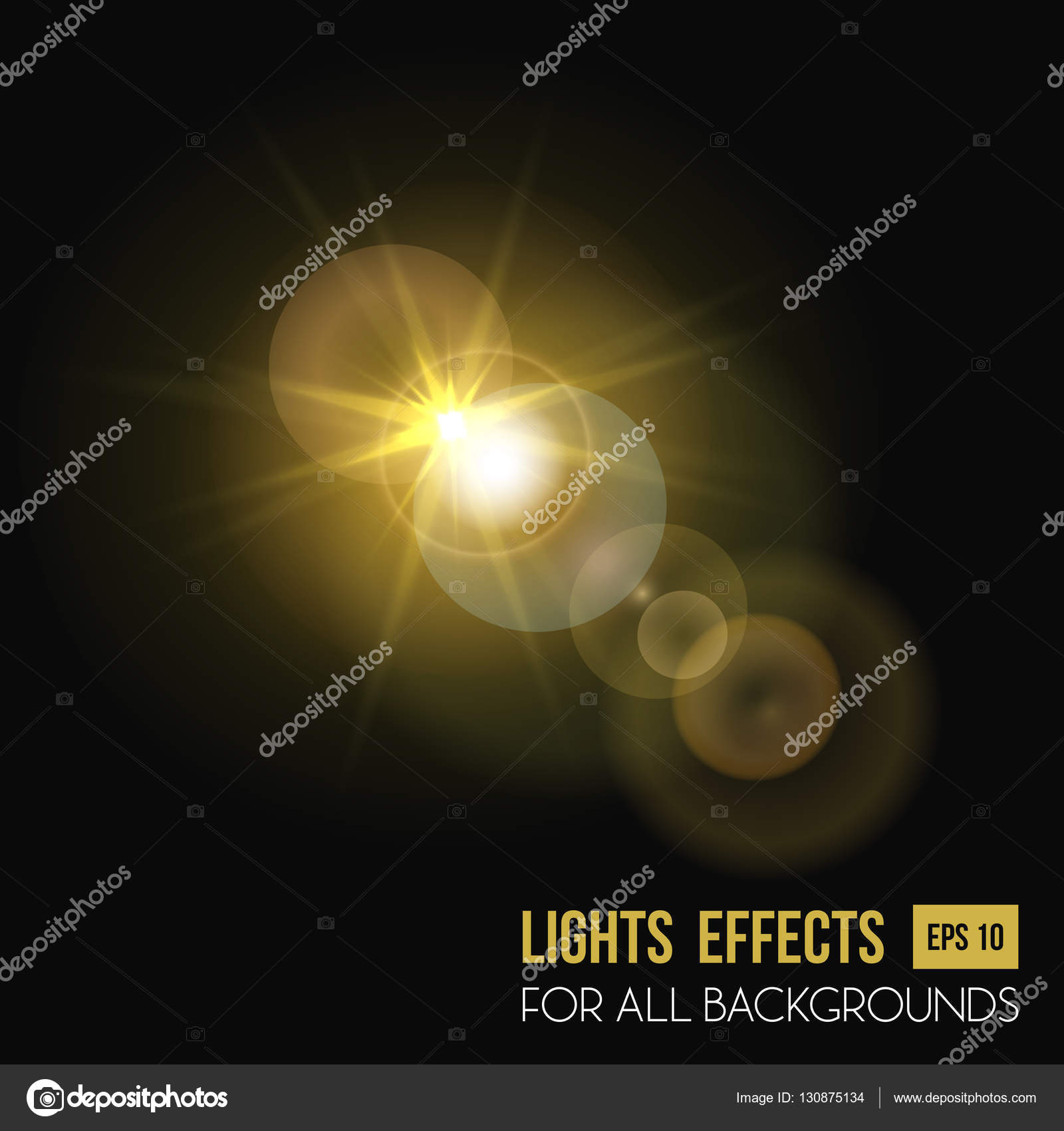 Sunbeam shining through lens, sun light effect — Stock Vector ... for Sun Light Effect Background  156eri