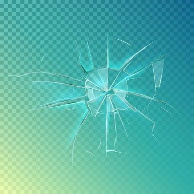 Mirror or broken glass, cracked, shattered window