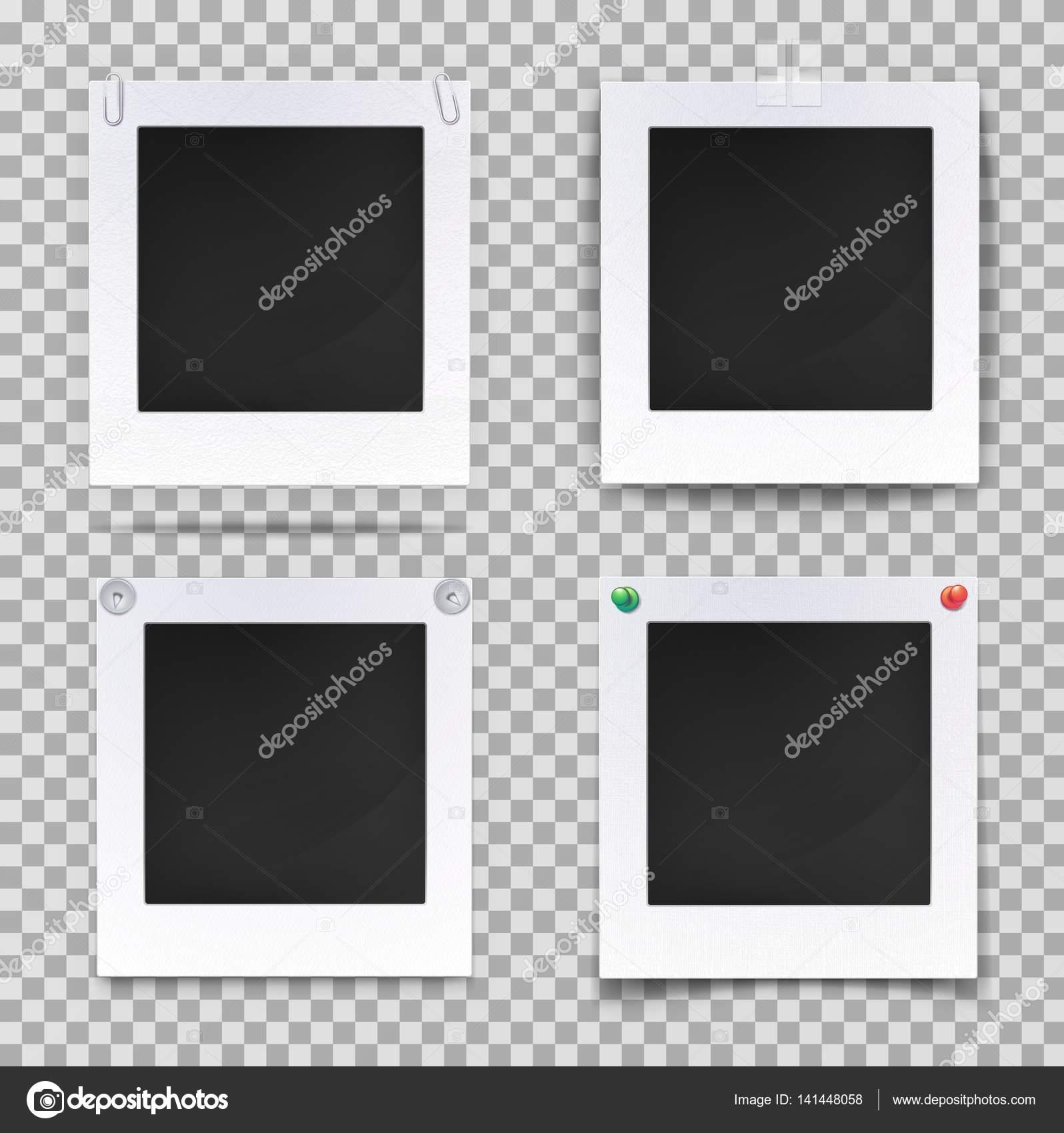 Retro Fotografie quadratisch leere Rahmen — Stockvektor © cookamoto ...
