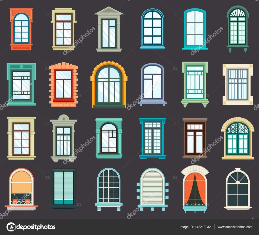 Fenster außenansicht  oder Kunststoff-Fenster-Außenansicht — Stockvektor #142219232