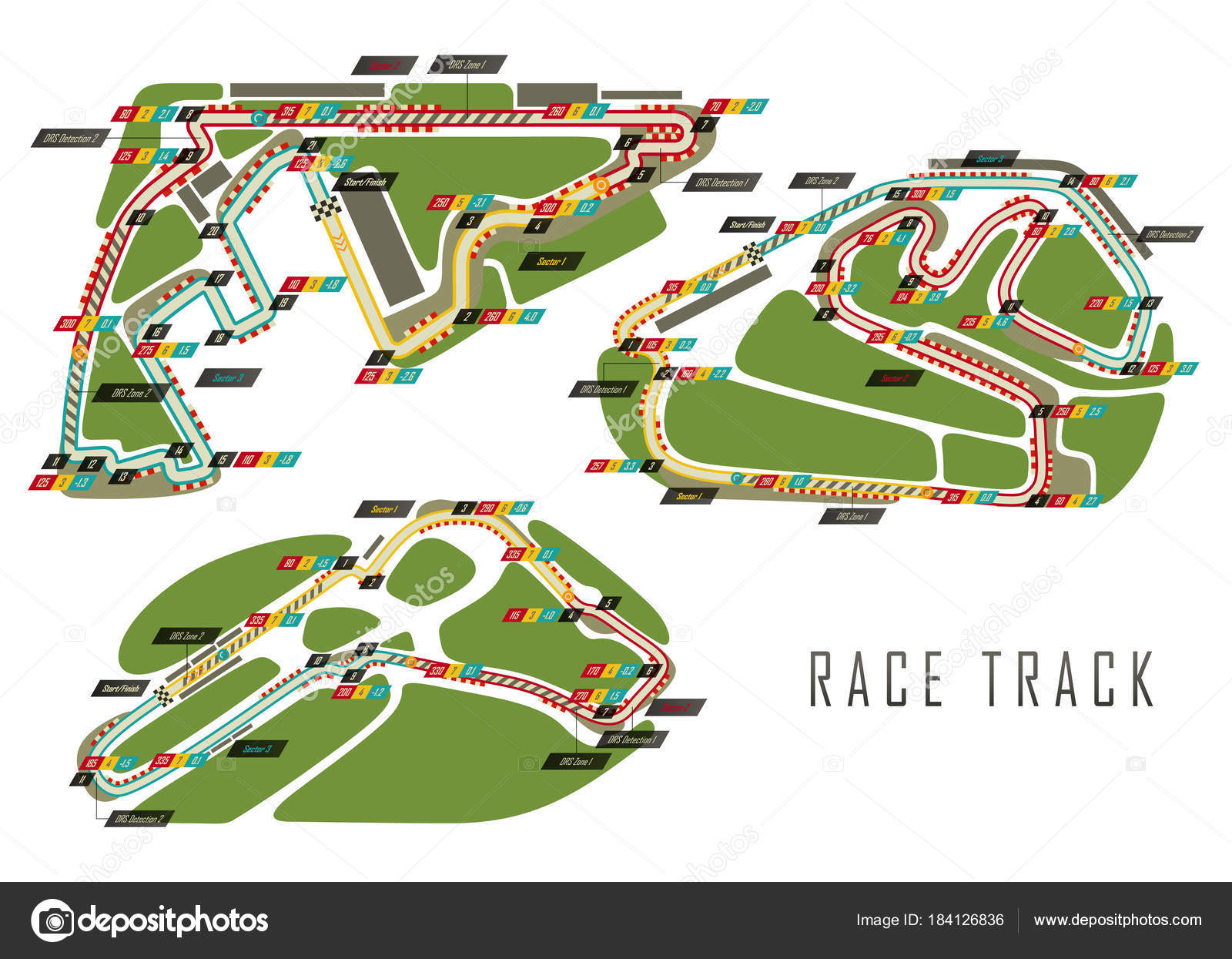 Race tracks for zil and Italy Arab Emirates — Stock Vector ... on bahram map, eclipse map, alborz map, venus map, yall map, yak map, topaz map, rising sun map,