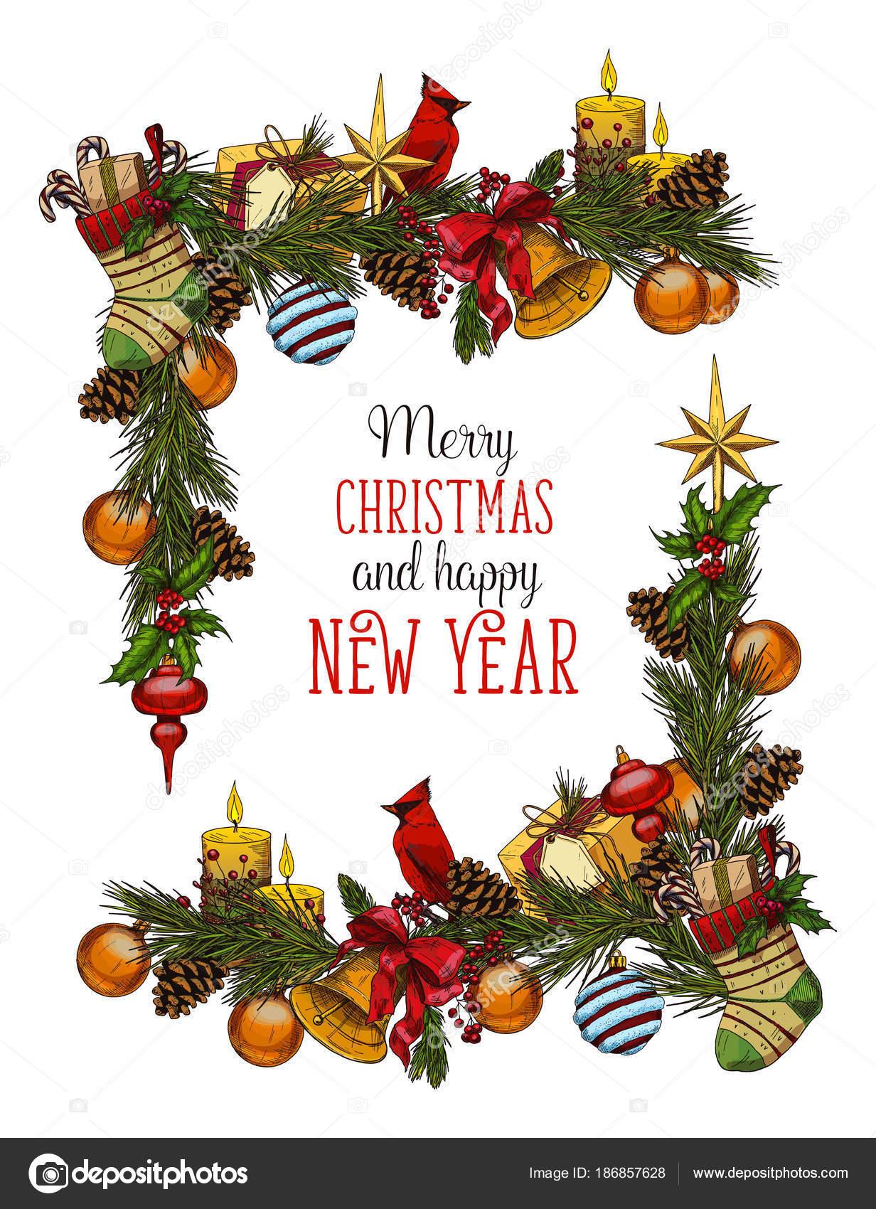 Marco para Navidad y año nuevo de 2018 — Archivo Imágenes ...