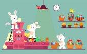 Fényképek Nyuszi vagy a húsvéti tojás csomagolás nyúl