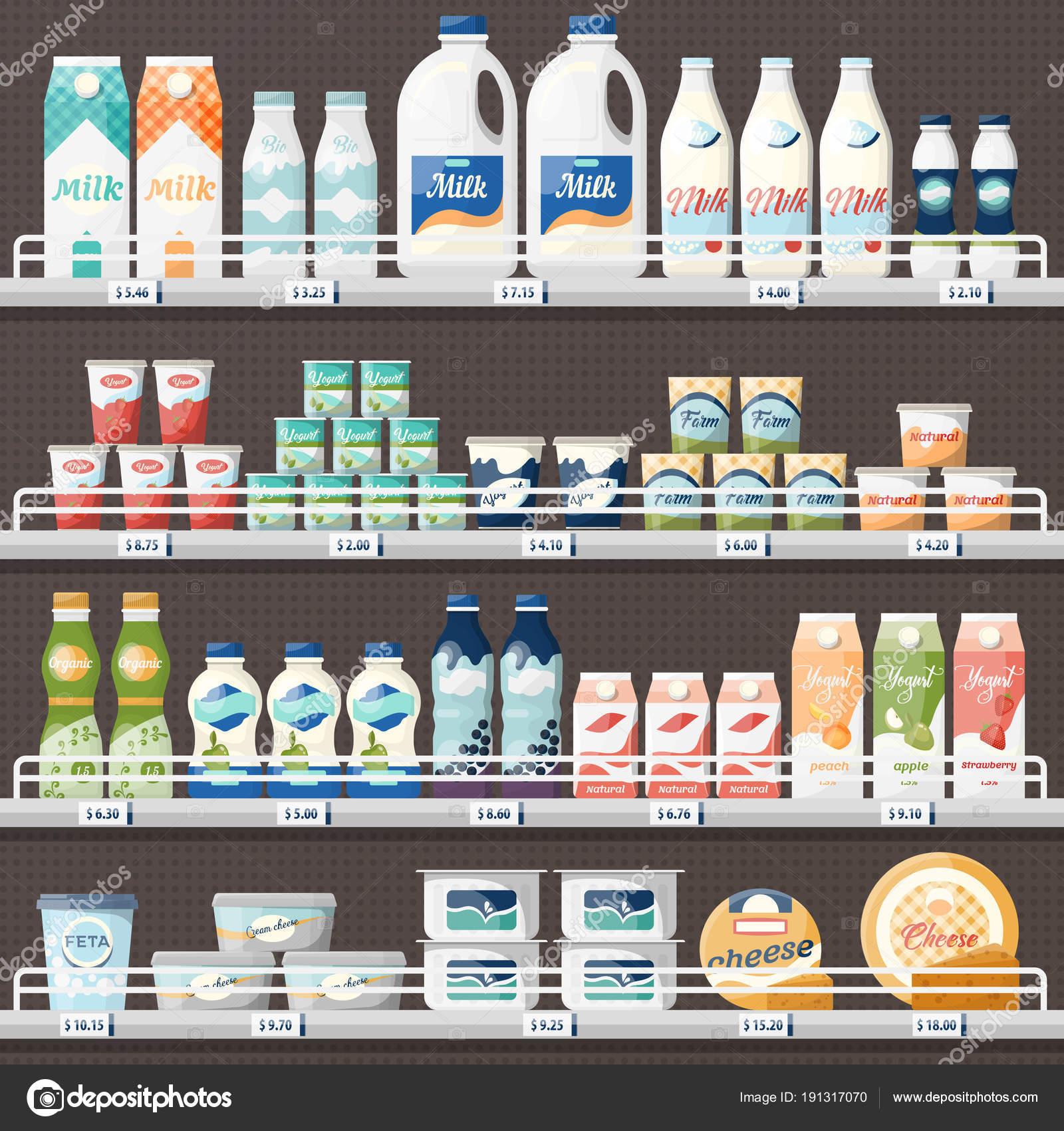 Circuito De La Leche : Ilustración vectorial de un diseño de paquete con manchas de leche