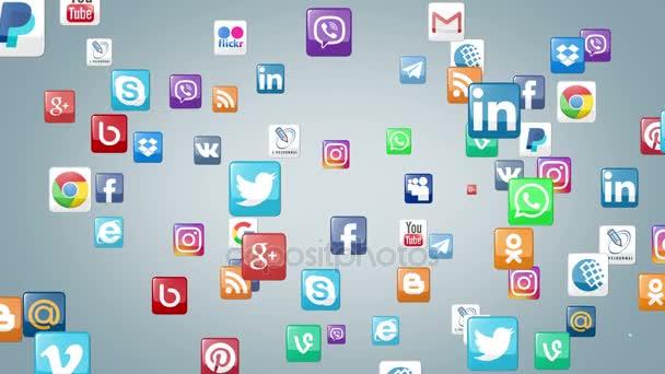 Logotypy populárních sociálních sítí a služeb
