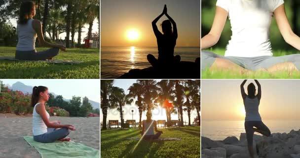 Jóga sada, Žena cvičí jógu