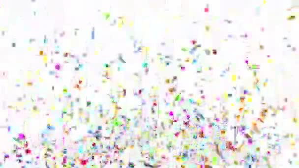 Confetti Party Popper Explosions on a Green Background  3d animation, 4K