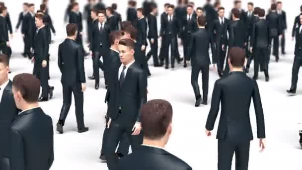 Crowd of Walking Businessmen, 3d Animation