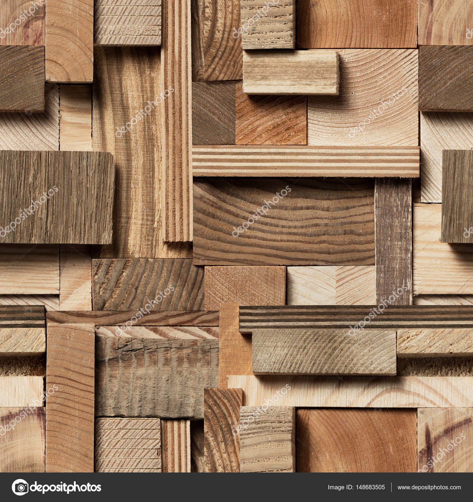 Seamless Wood Block Background