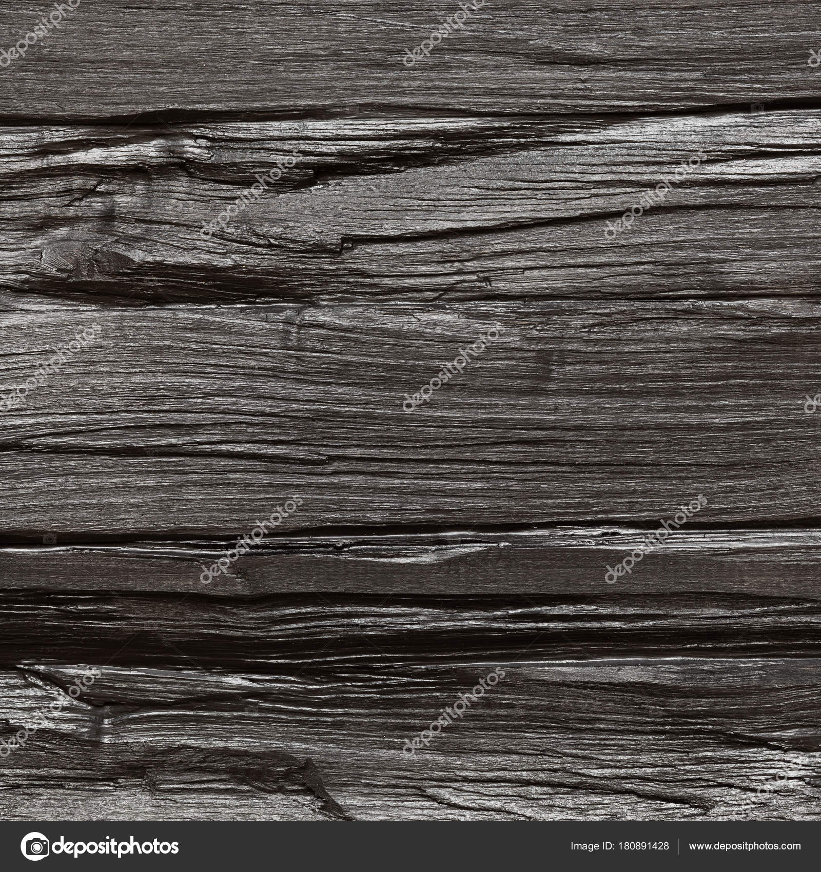 Rustic Black Wood Texture Stock Photo