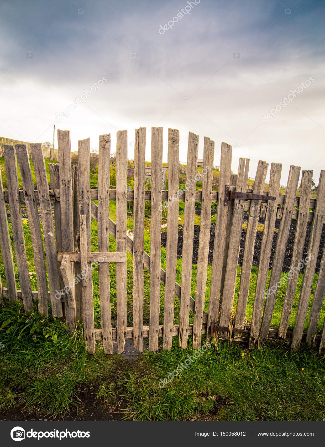 забор под ворота