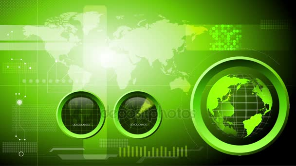 Technology, engineering, strategic and military background loop. Room for your text and logo on the left side, seamless loop