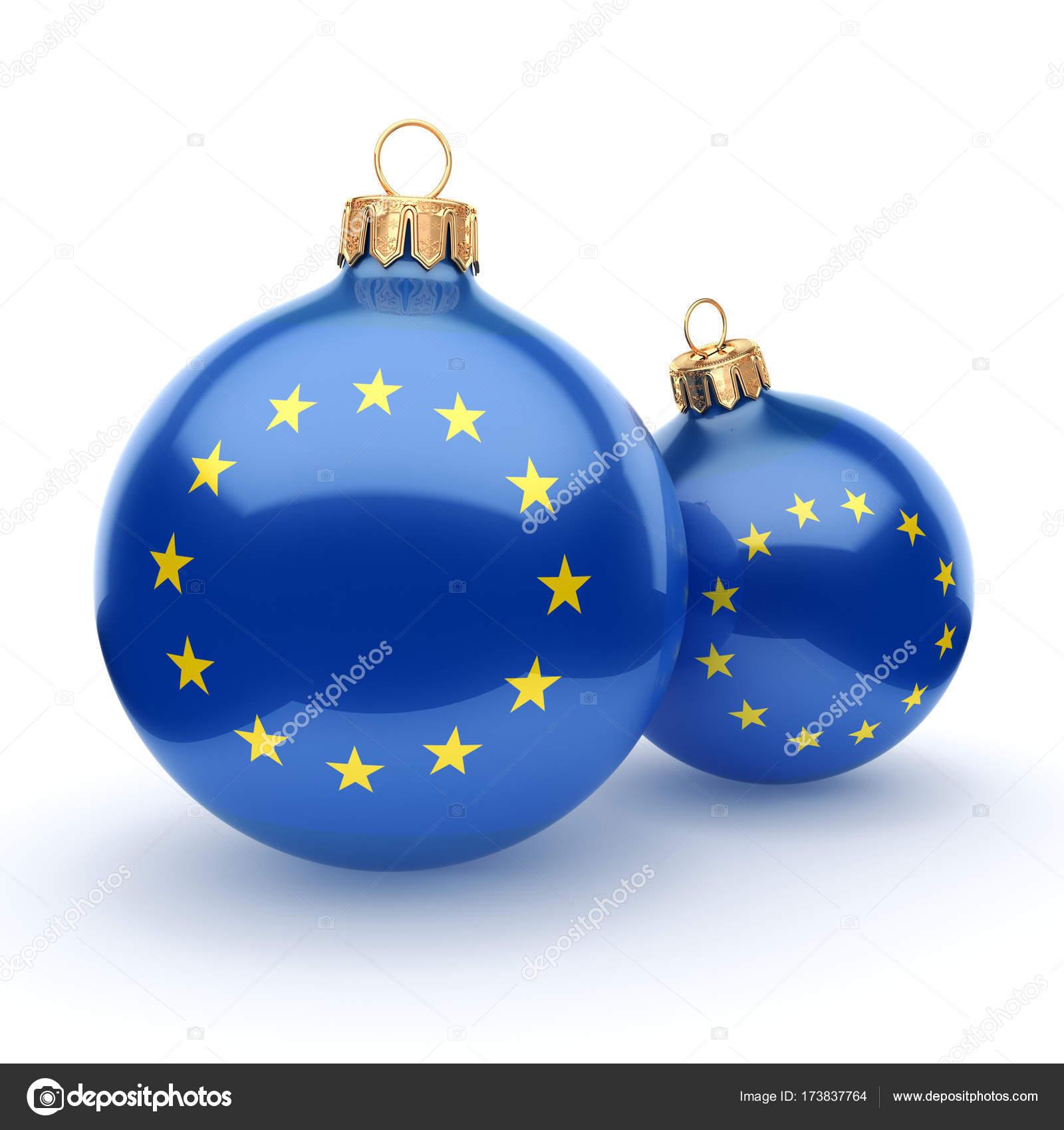 3D-Rendering Weihnachtskugel Mit Der Flagge Der