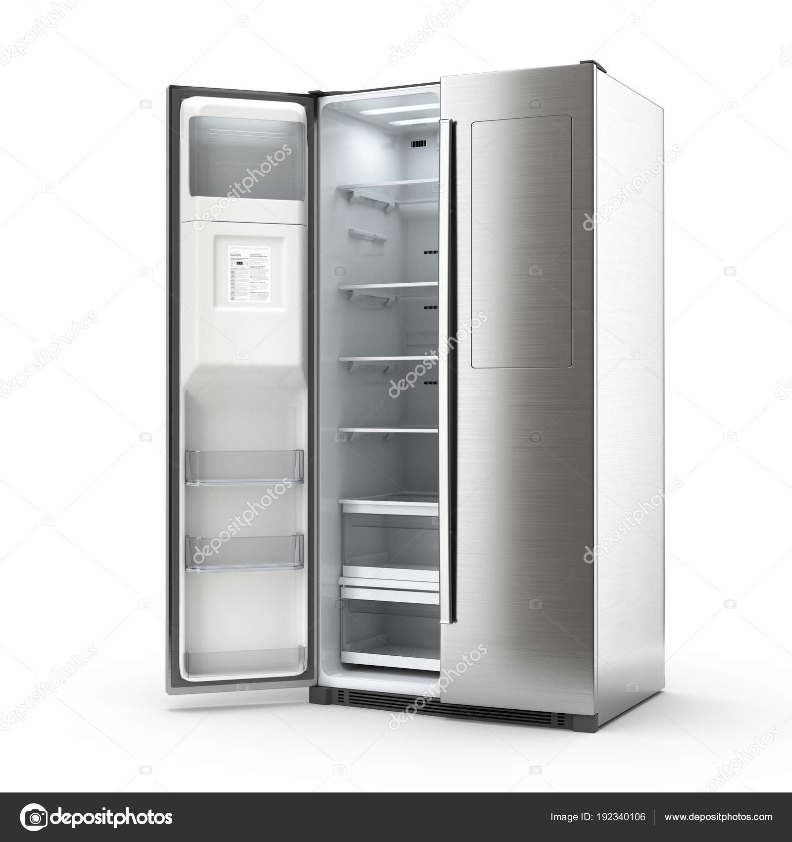 3D Rendering großer Kühlschrank — Stockfoto © apopium #192340106