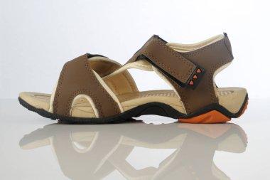 Men's Sandal Footwear on White Background