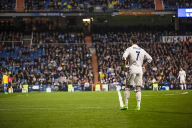 MADRID, SPAIN - MARCH 1: Cristiano Ronaldo in a match of the spa