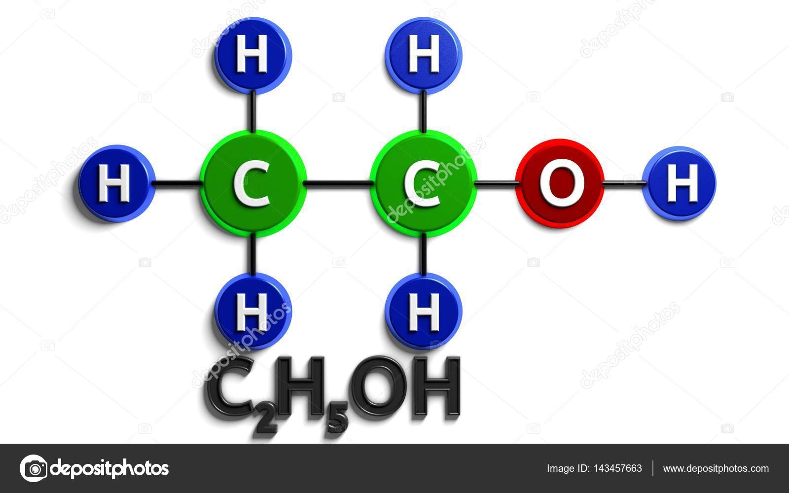 Chemical formula of nicotine on a white background stock photo structural chemical formula ethanol c2h5oh 3d rendering digital illustration buycottarizona