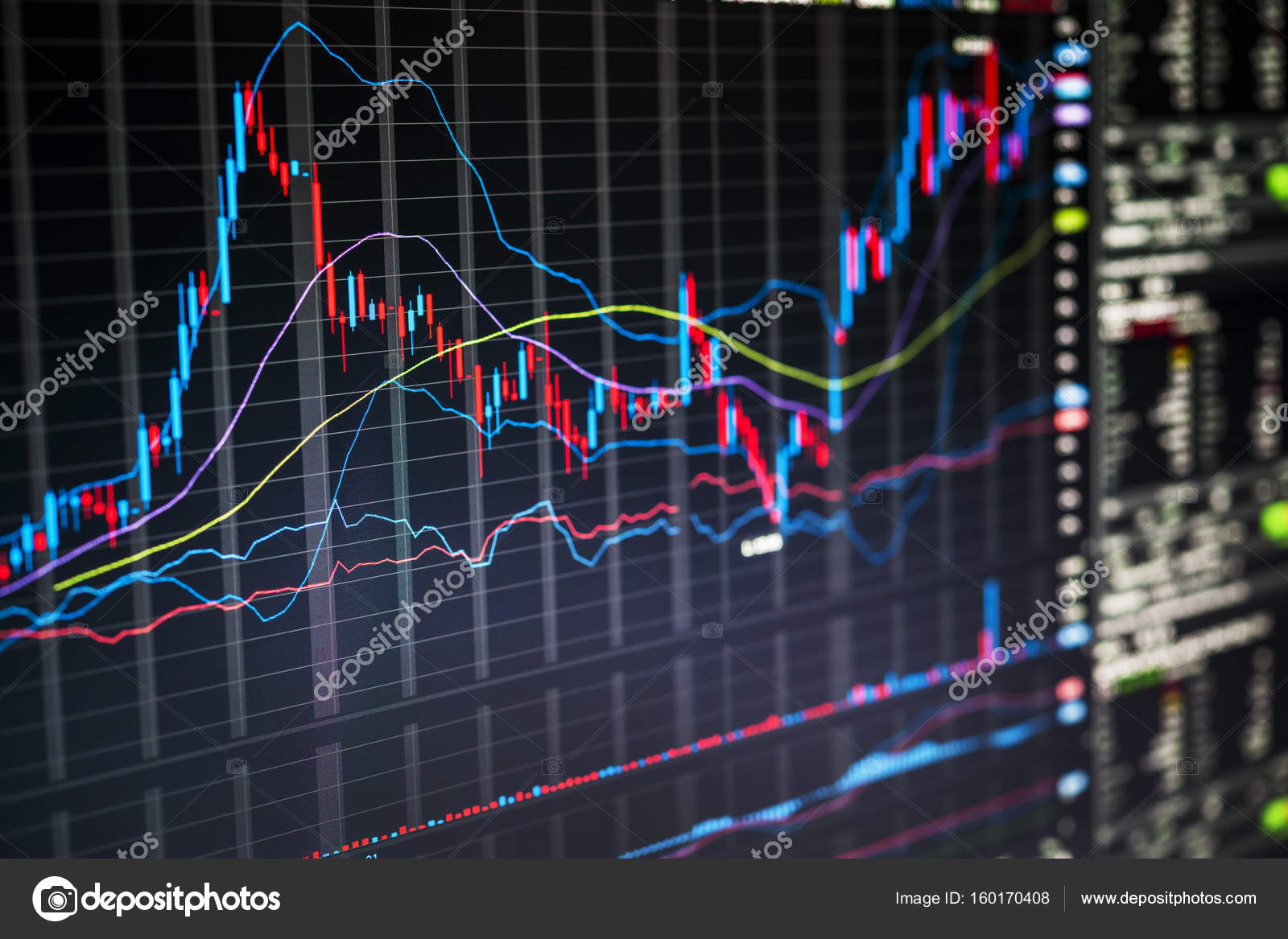 stock market charts stock photo elenathewise 160170408