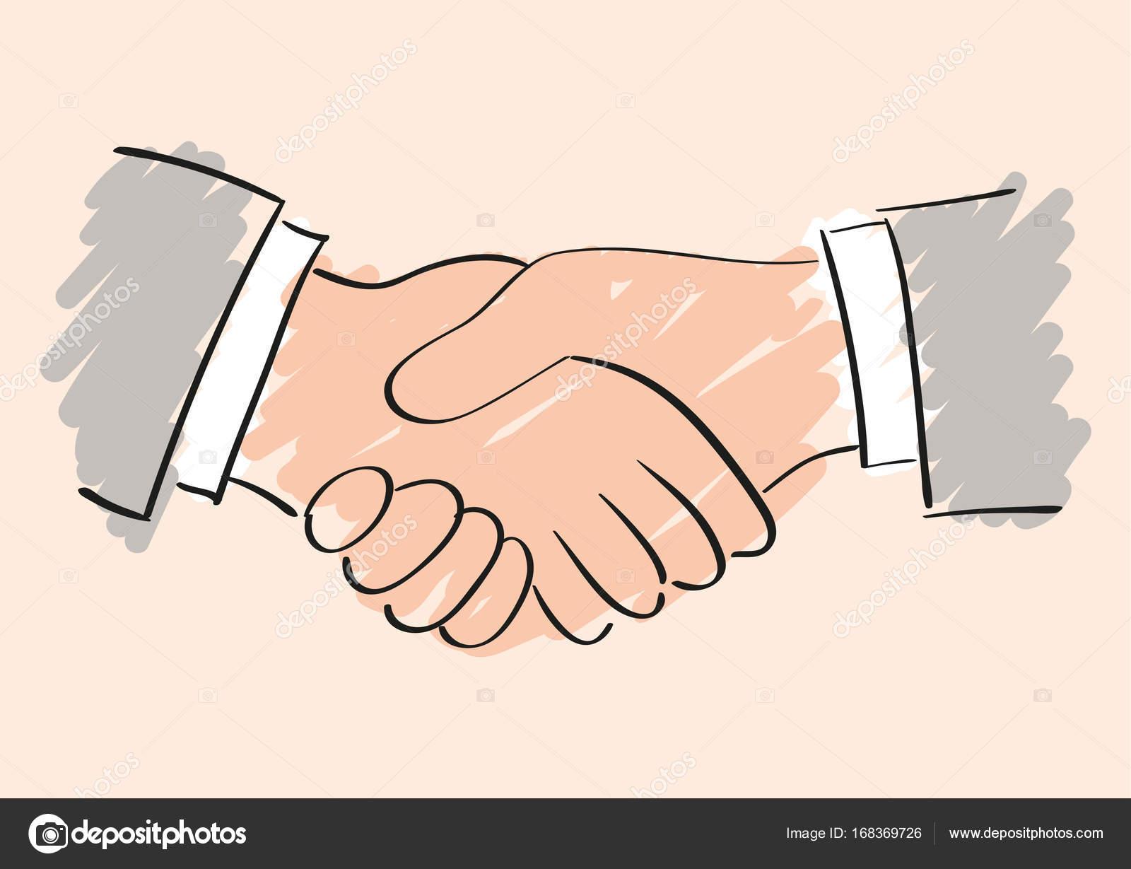 esbo u00e7o de vetor desenho de aperto de m u00e3o s u00edmbolo da handshake vector png handshake vector freepik