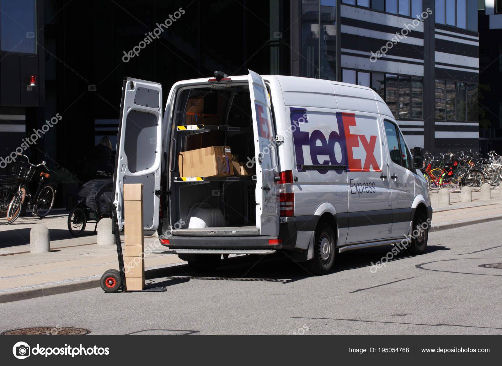 Copenhagen Denmark May 2018 Fedex Express Delivery Van